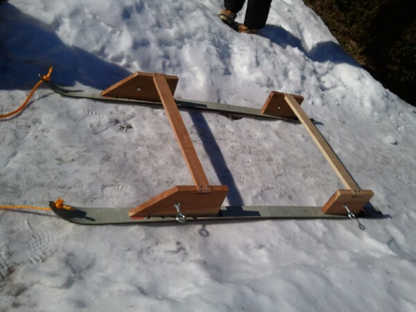My homemade 15 sled aka the smitty sled for Ice fishing sleds